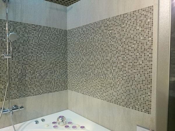 Мозаика Caramelle Sitka из стекла и камня 305х305х4 мм микс поверхностей
