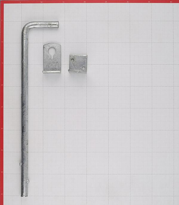 Засов воротный GAH ALBERTS вертикальный 400 мм оцинкованный