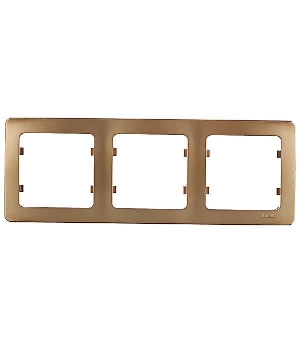 Рамка HEGEL Master Р403-07 трехместная горизонтальная золото рамка четырехместная hegel master золото