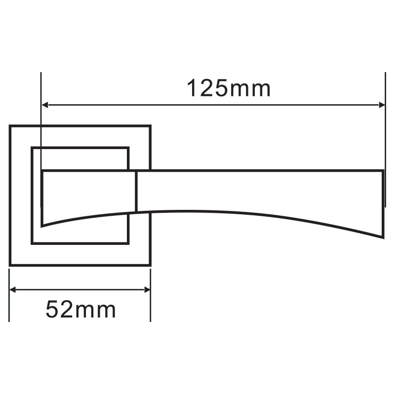 Ручка дверная Palladium City A Trevi SN/CP квадратная розетка (матовый никель/хром)