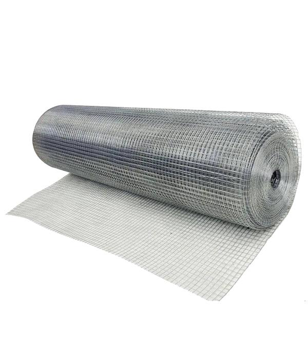 Сетка штукатурная сварная оцинкованная 10х10 мм d0,6 мм 1х15 м рулон фото