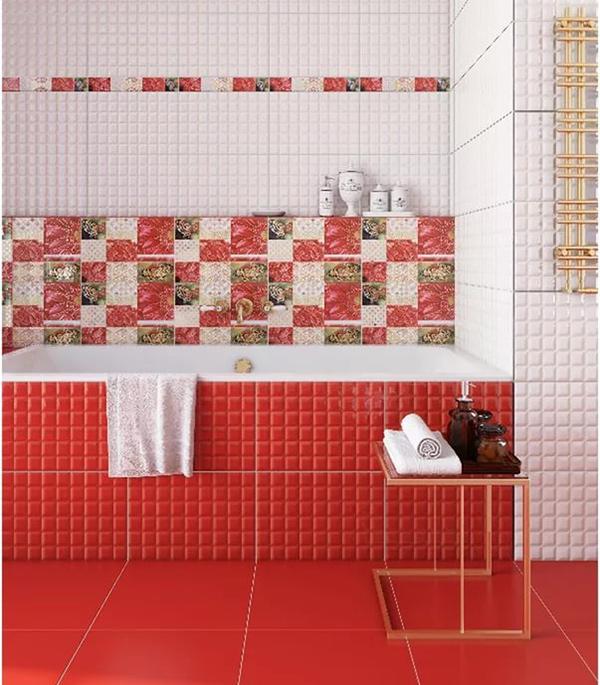Плитка облицовочная Axima Гардения красная 400x280x8 мм (11 шт.=1,232 кв.м) фото