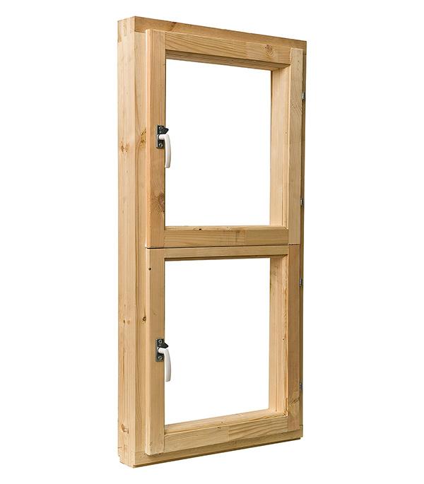 Блок оконный деревянный 1160х570х90 мм с форточкой