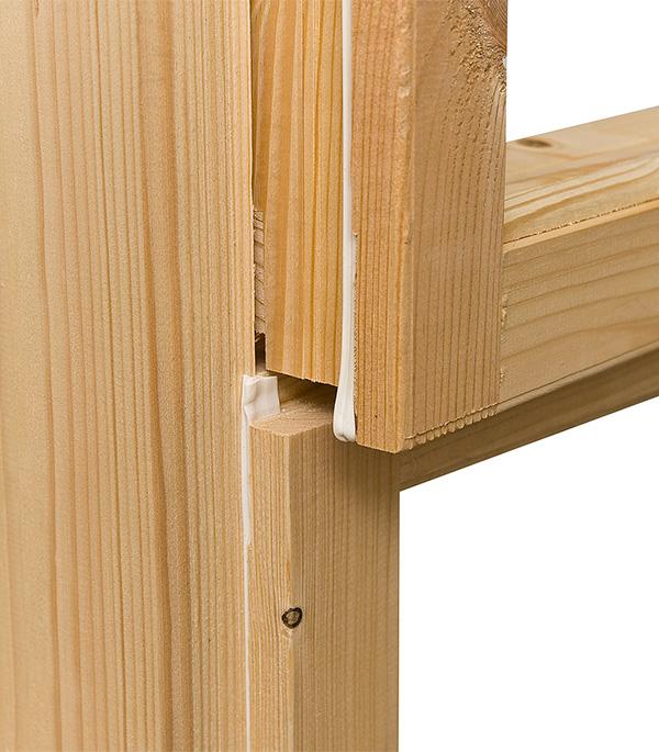 Блок оконный деревянный 1160х1000х90 мм с форточкой