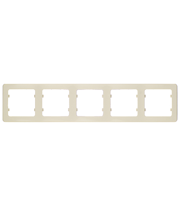 Рамка HEGEL Master Р405-01 пятиместная горизонтальная слоновая кость рамка четырехместная hegel master золото