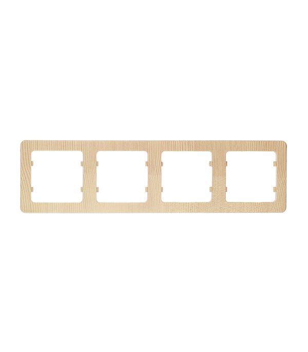 Рамка HEGEL Master Р404-02 четырехместная горизонтальная сосна рамка четырехместная hegel master золото