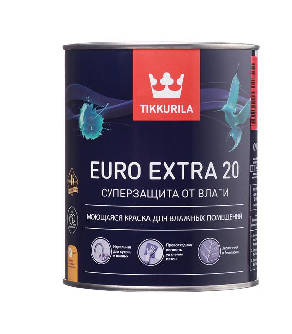 Краска в/д Tikkurila Euro Extra 20 основа C полуматовая 0.9 л