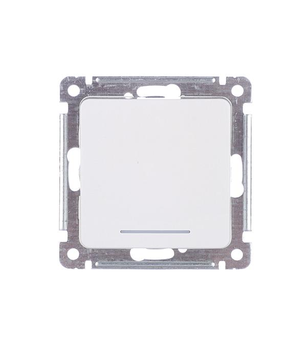 Выключатель HEGEL Master ВС10-432 одноклавишный скрытая установка белый с самовозвратом и подсветкой
