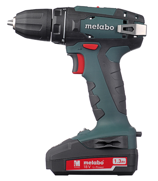 Дрель-шуруповерт аккумуляторная Metabo BS 18 В 1.3 Ач 48 Нм Li-Ion new eleoption 12v 2000mah li ion rechargeable power tool battery for milwaukee m12 48 11 2401 2510 20 48 59 1812 charger