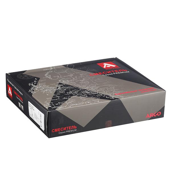 Смеситель для кухни ARGO PREMIUM OLIMP BLACK 35-03P однорычажный высокий черный/хром фото