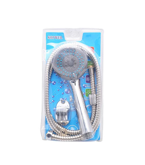 Лейка для душа D80мм 1F UNION MW035 с пластиковым шлангом и держателем хром цена