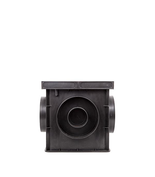 Дождеприемник Европартнер (7421) 200х200х200 мм пластиковый с решеткой и перегородкой черный фото