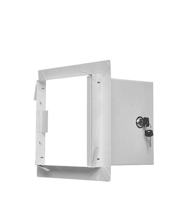 Люк ревизионный 200х200 мм с замком стальной люк смотровой для гипсокартона 200х200 мм металл