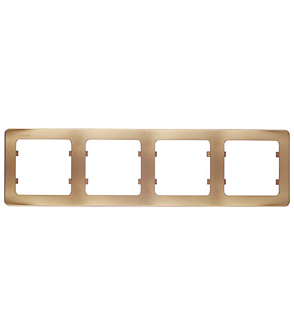 Рамка HEGEL Master Р404-07 четырехместная горизонтальная золото рамка четырехместная hegel master золото
