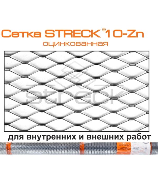 Сетка штукатурная ЦПВС оцинкованная 10х10 мм 1х10 м рулон Streck сетка штукатурная штрек цпвс ячейка 10х10 мм рулон 10 м