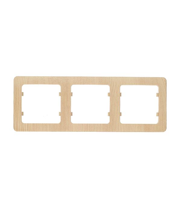 Рамка HEGEL Master Р403-02 трехместная горизонтальная сосна рамка четырехместная hegel master золото