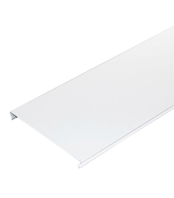 Рейка сплошная S-дизайн 4 м 100AS Эконом белая