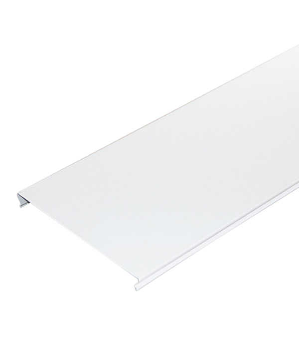 Рейка сплошная S-дизайн 4 м 100AS Эконом белая стоимость