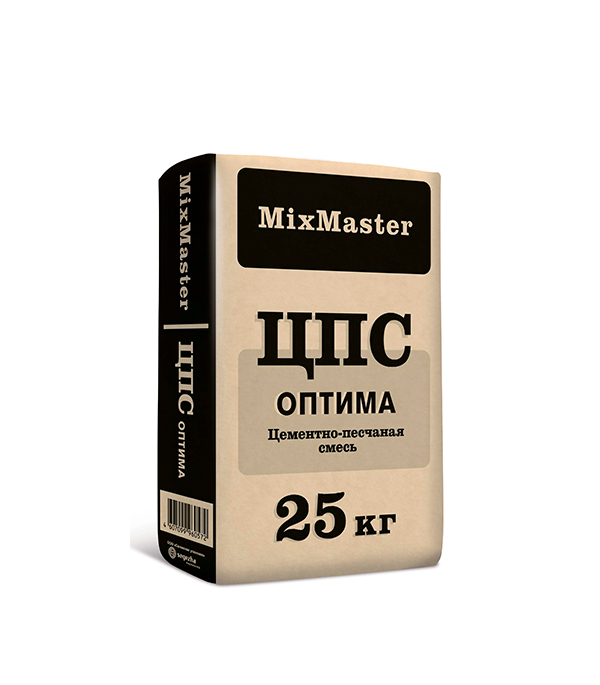 Смесь цементно-песчаная (ЦПС) 150 по ТУ MixMaster Оптима 25 кг фото