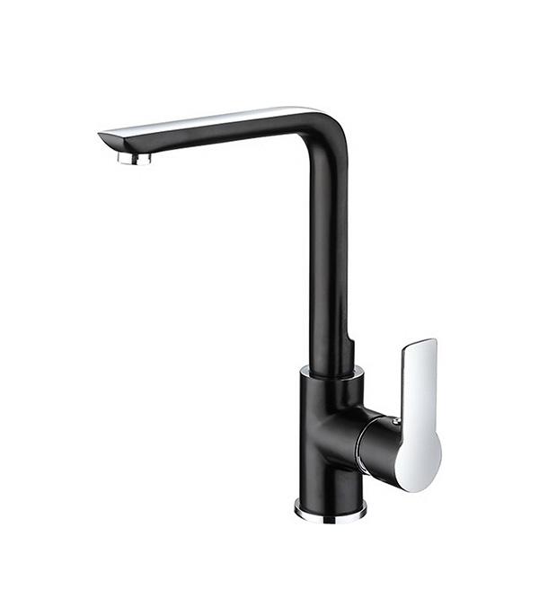 Смеситель для кухни ARGO PREMIUM OLIMP BLACK 35-03P однорычажный высокий черный/хром комплектующие