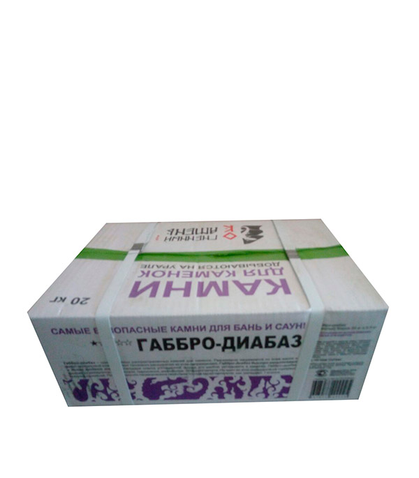 Камни для бань и саун Габбро-диабаз 20 кг
