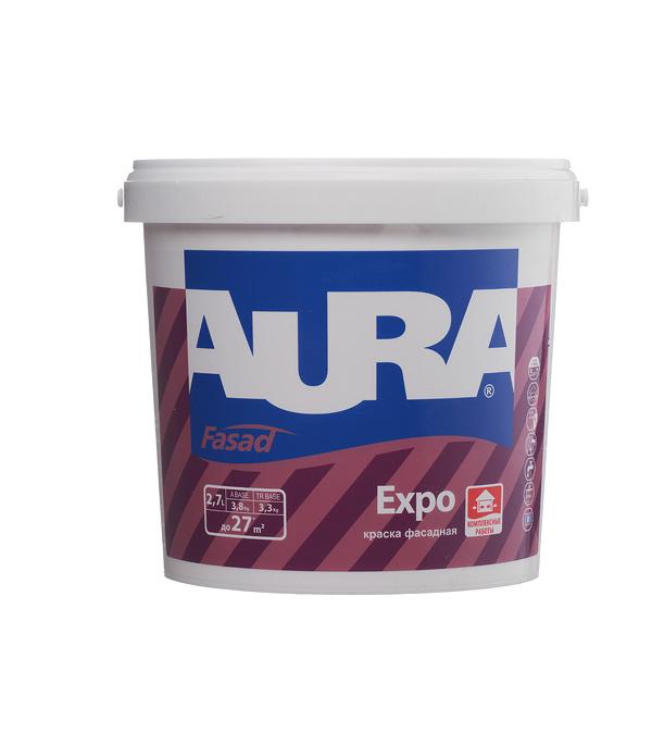 Краска водно-дисперсионная фасадная Aura Fasad Expo белая основа А 2,7 л