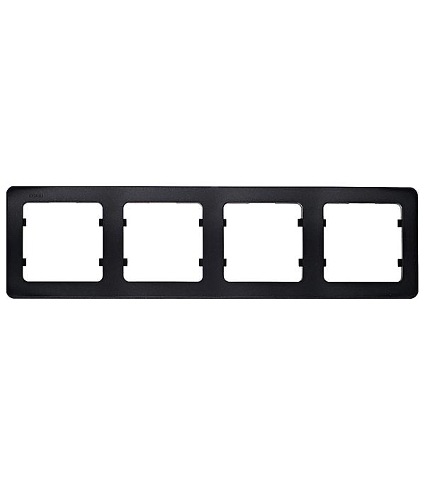 Рамка HEGEL Master Р404-08 четырехместная горизонтальная черная рамка четырехместная hegel master золото