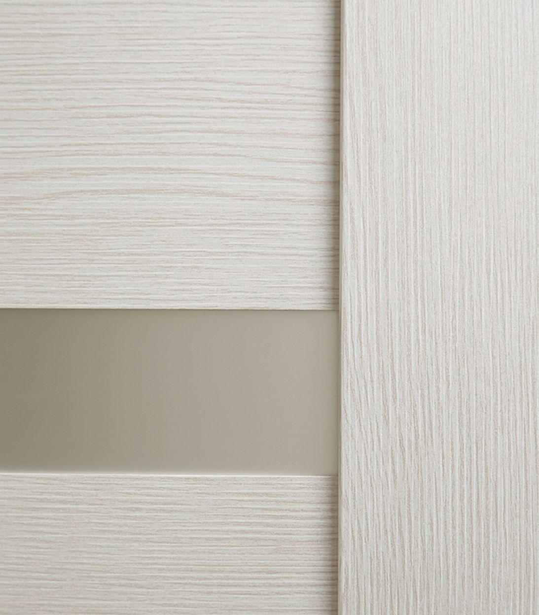 Дверное полотно Принцип ЛАЙТ 24 лиственница белая со стеклом экошпон 600x2000 мм фото