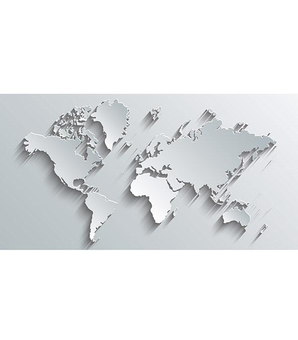 Фотопанно 2,5х1,3 м 1 лист OVK Design Карта мира 230473 фотопанно ovk design 230089 котята 250х130