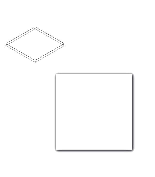 Плита к подвесному потолку 600x600x15 мм Lay-in Plain Board 18 штук цена