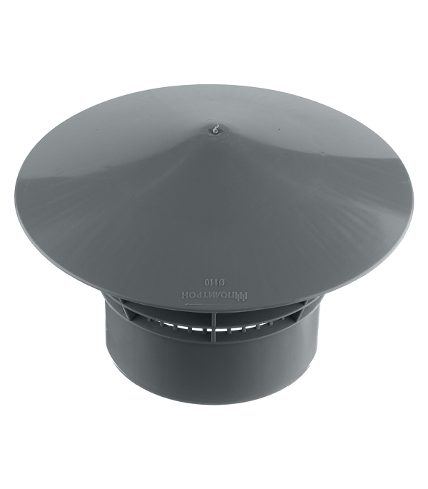 Грибок (дефлектор) Polytron Comfort пластиковый для канализационной трубы d110 мм