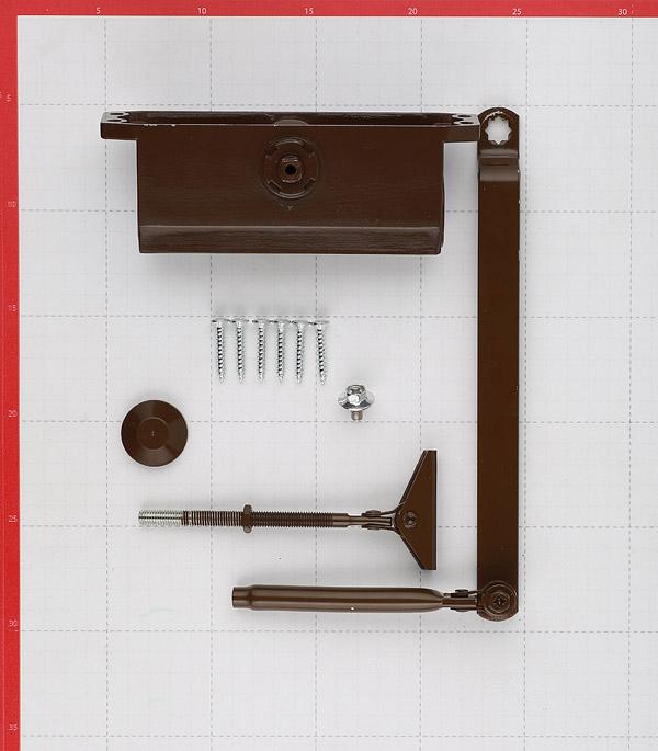 Доводчик дверной ФЗ (до 60 кг) коричневый