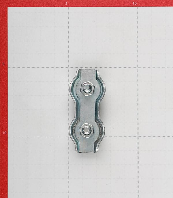 Зажим троса duplex d6 мм