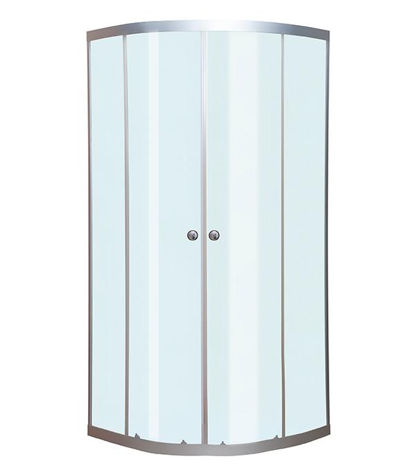 Душевое ограждение MITTE полукруг 90х90х177см прозрачное стекло 4мм профиль хром без поддона цена и фото