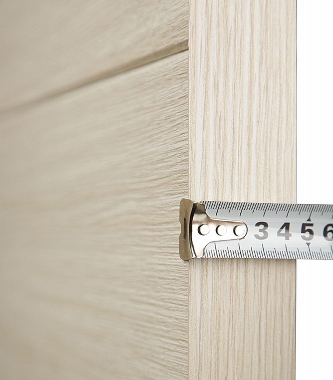 Дверное полотно Verda Турин 05 дуб бежевый вералинга со стеклом экошпон 700x2000 мм фото