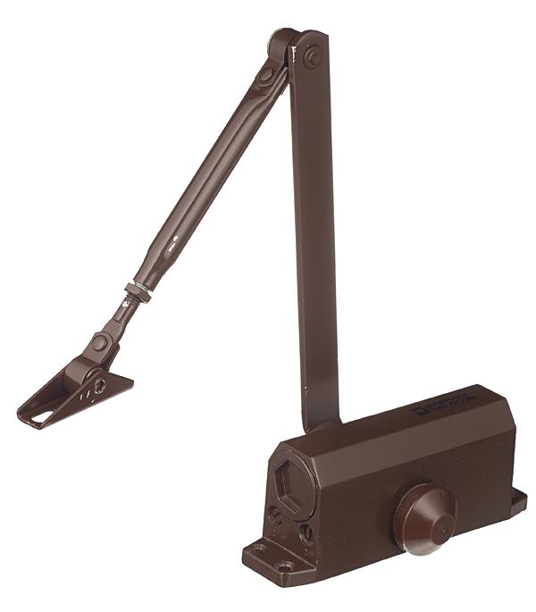 Доводчик дверной ФЗ (до 45 кг) коричневый