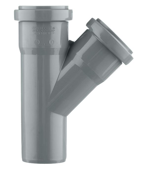 Тройник Ostendorf d50 мм 45° пластиковый