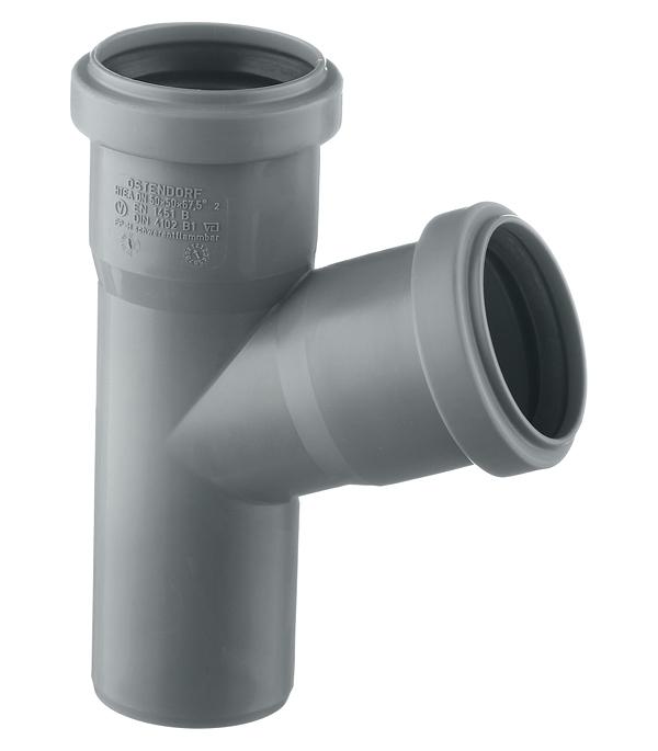 Тройник Ostendorf d50 мм 67° пластиковый для внутренней канализации