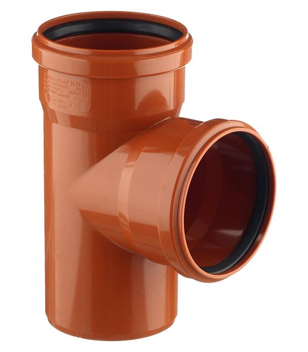 Тройник Ostendorf d110 мм 87° пластиковый для наружной канализации двухраструбный тройник внутренний ostendorf 110х50 мм 87° двухраструбный
