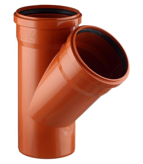 Тройник Ostendorf d160 мм 45° пластиковый для наружной канализации двухраструбный