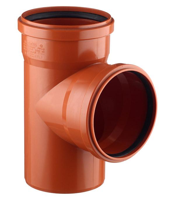 Тройник Ostendorf d160 мм 87° пластиковый для наружной канализации двухраструбный тройник внутренний ostendorf 110х50 мм 87° двухраструбный