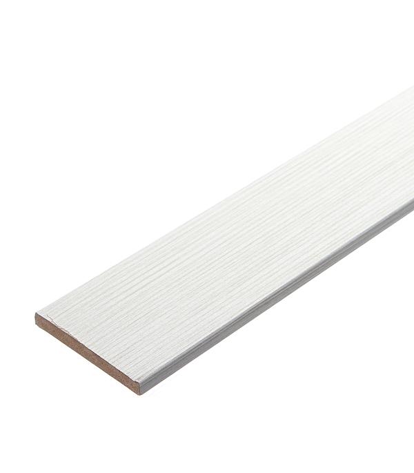 Наличник прямой Принцип ЛАЙТ 24 экошпон лиственница белая 70х8х2150 мм (1 шт.) фото