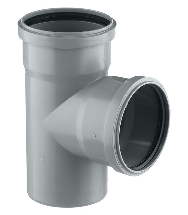 Тройник Polytron Comfort d110 мм 87° пластиковый для внутренней канализации