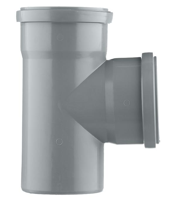 Тройник Polytron Comfort d110 мм 87° пластиковый для внутренней канализации фото