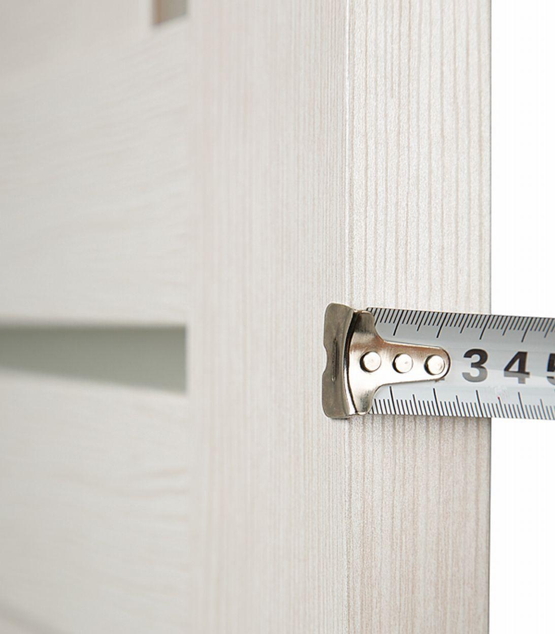 Дверное полотно Принцип ЛАЙТ-1 лиственница белая со стеклом экошпон 800x2000 мм фото