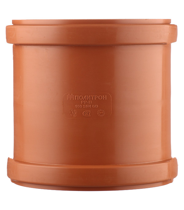 Муфта d160 мм пластиковая для наружной канализации