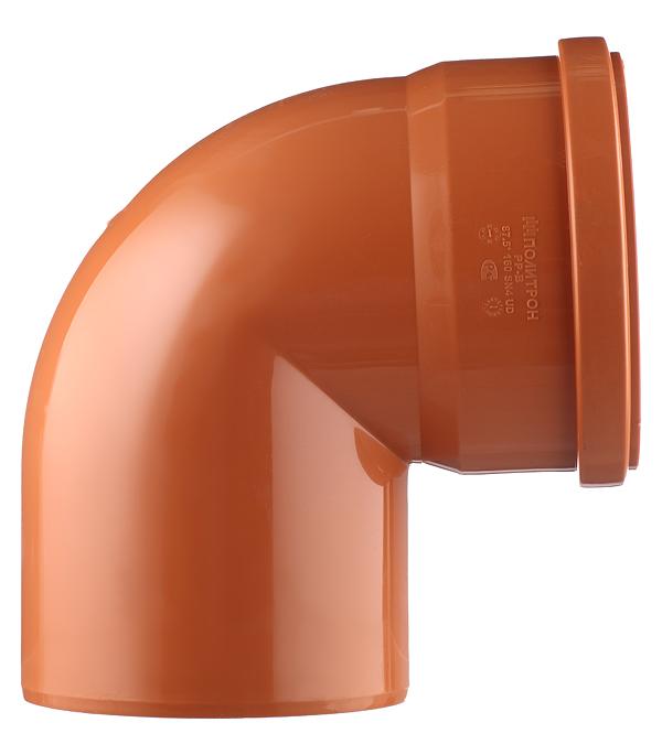 Отвод d160 мм 87° пластиковый для наружной канализации однораструбный фото