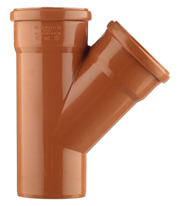 Тройник d110 мм 45° пластиковый для наружной