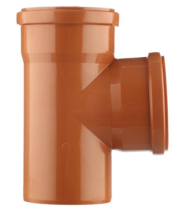 Тройник d110 мм 87° пластиковый для наружной