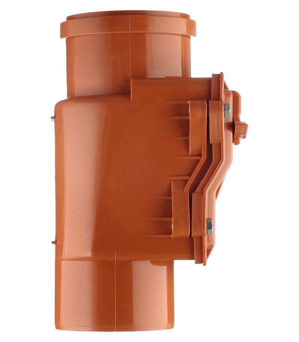 Клапан обратный d110 мм пластиковый для наружной
